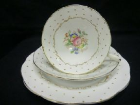 St Michael china POLKA DOT trio